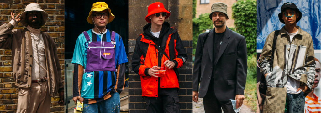 fashion influencers wearing bucket hats for men